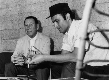 Juan Domingo Perón y Leonardo Favio