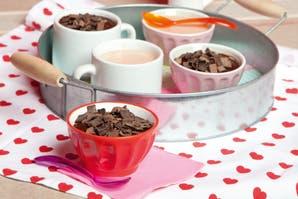 Postrecitos de chocolate y de frutilla