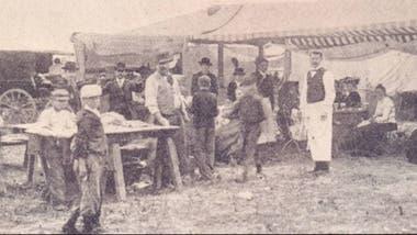 Gazebo del Día de los Difuntos, en 1905