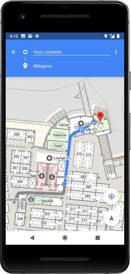 Android P usará las antenas Wi-Fi para mejorar la precisión de su posicionamiento en lugares públicos