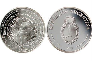La moneda conmemorativa del Mundial 2014.