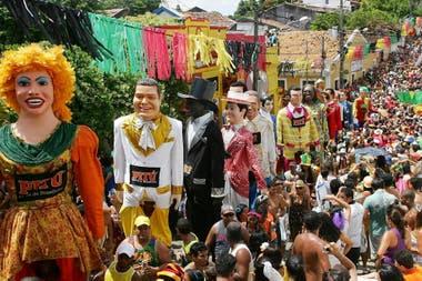 El desfile de los muñecos gigantes, un clásico