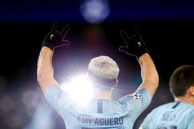 Aguero marcó los dos primeros goles del Manchester City