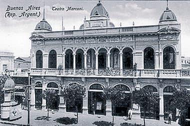 El Marconi, ex teatro Doria, muy frecuentado por la comunidad italiana.