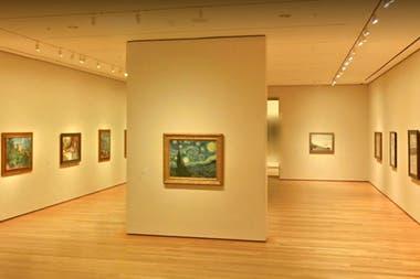 Vista de sala del Museo de Arte Moderno de Nueva York desde la plataforma de Google