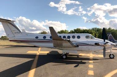 Aeronave matrícula LV-YLC de la Gobernación de La Rioja