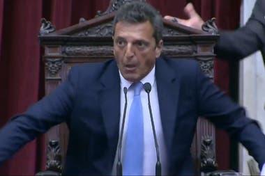 Sergio Massa, presidente de la Cámara de Diputados, recibió una carta con el reclamo de la AFA