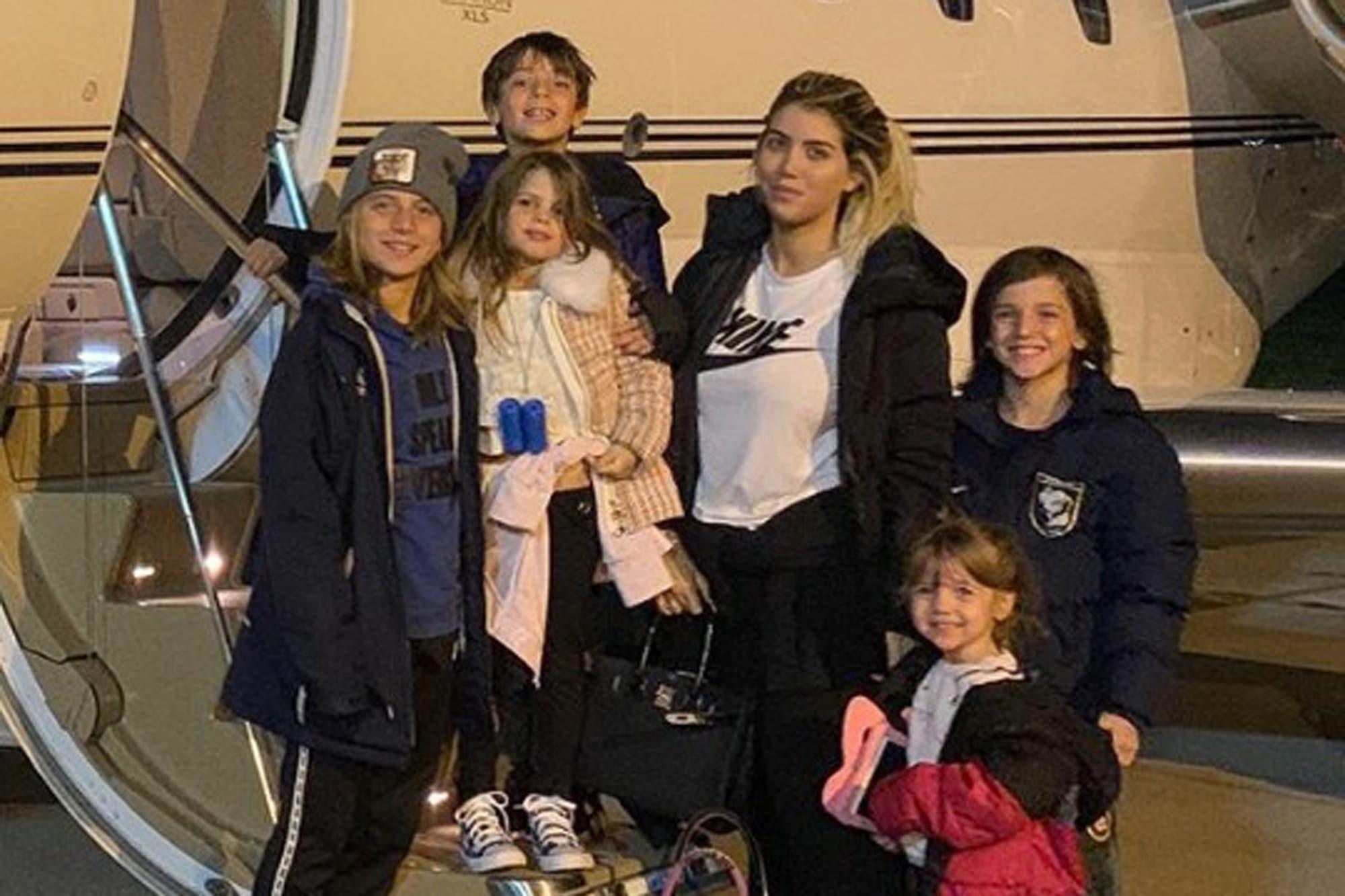 En medio de la pandemia, Wanda Nara y Mauro Icardi volvieron a Italia con sus hijos