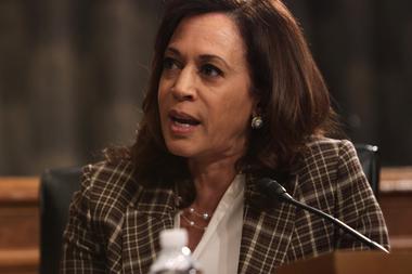 La compañera de fórmula del demócrata Joe Biden, Kamala Harris