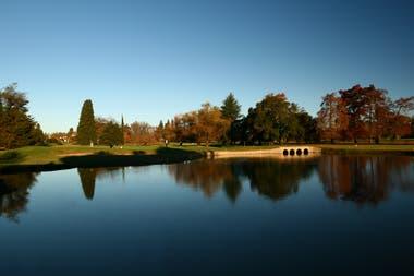 Un paisaje del golf: belleza pura