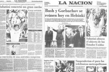 La histórica conquista de Gaby Sabatini en el Abierto de los Estados Unidos de 1990 reflejada en las páginas de LA NACION.
