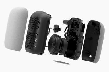 Un detalle interno del parlante Nest Audio de Google, que saldrá a la venta a 99 euros