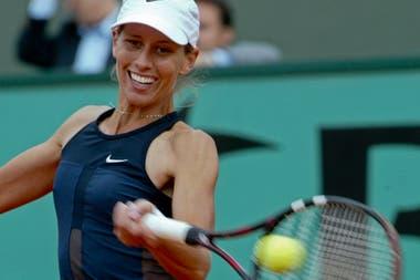 Clarisa Fernández había sido la última semifinalista argentina en Roland Garros, en 2002