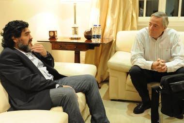 En Olivos, en un encuentro con el presidente Néstor Kirchner, en 2010