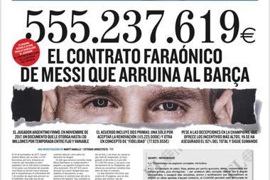 La tapa del diario El Mundo que desató una nueva crisis en Barcelona