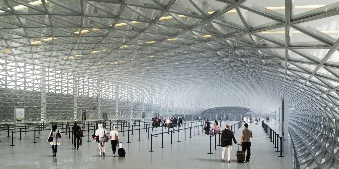 El interior de una de las terminales, de acuerdo al proyecto en ejecución