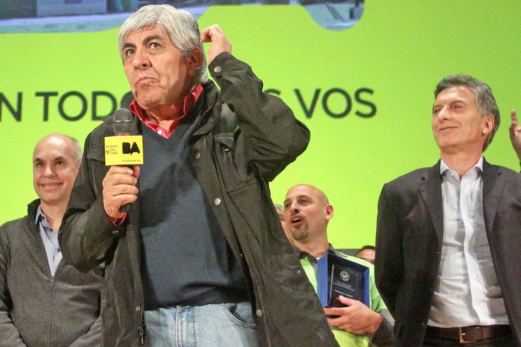 Resultado de imagen para Mauricio Macri y Hugo Moyano