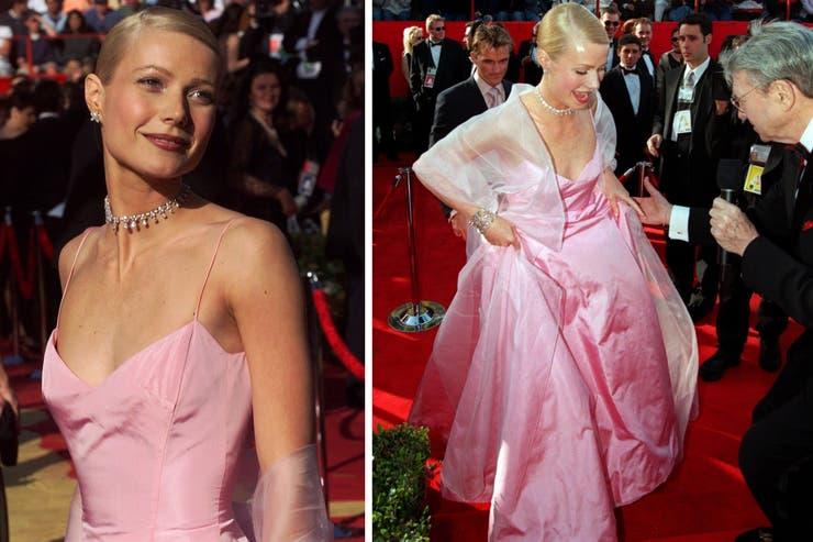 El pink dress más recordado de la historia de los Oscar es el que Ralph Lauren le diseño a Gwyneth Paltrow para la ceremonia de 1999; el vestido, polémico, tiene sus fanáticos y detractores