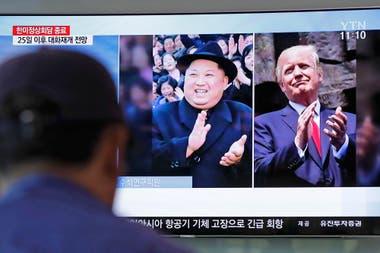 La noticia en la televisión surcoreana