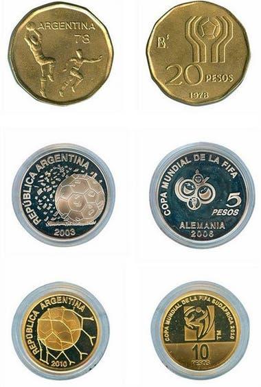 Las monedas del BCRA de otros mundiales.