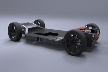 Williams FW-EVX. En 2017, Williams Advanced Engineering presentó esta base para eléctricos de fibra de carbono