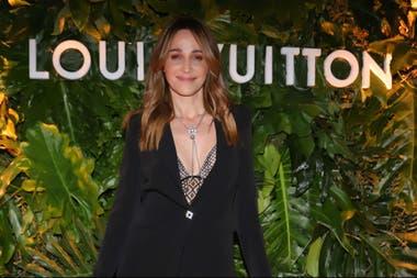 Verónica Lozano, muy elegante para celebrar la inauguración de una tienda Louis Vuitton en Buenos Aires