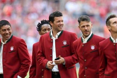 Con Elber y Ballack en el Bayern Munich