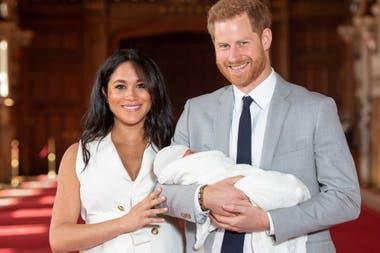 Cuando los duques presentaron a su hijo recién nacido.