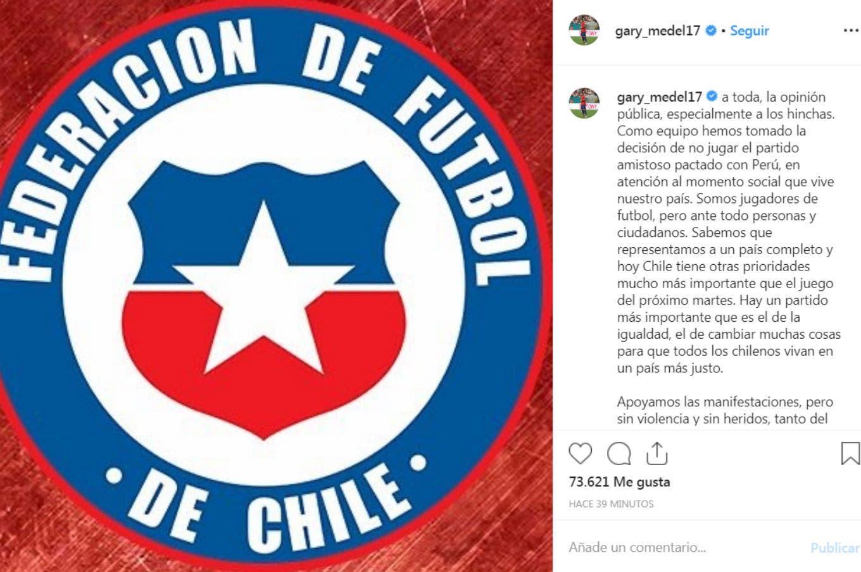 Sin amistoso por la crisis: los jugadores de Chile se negaron a jugar contra Perú y se canceló el partido