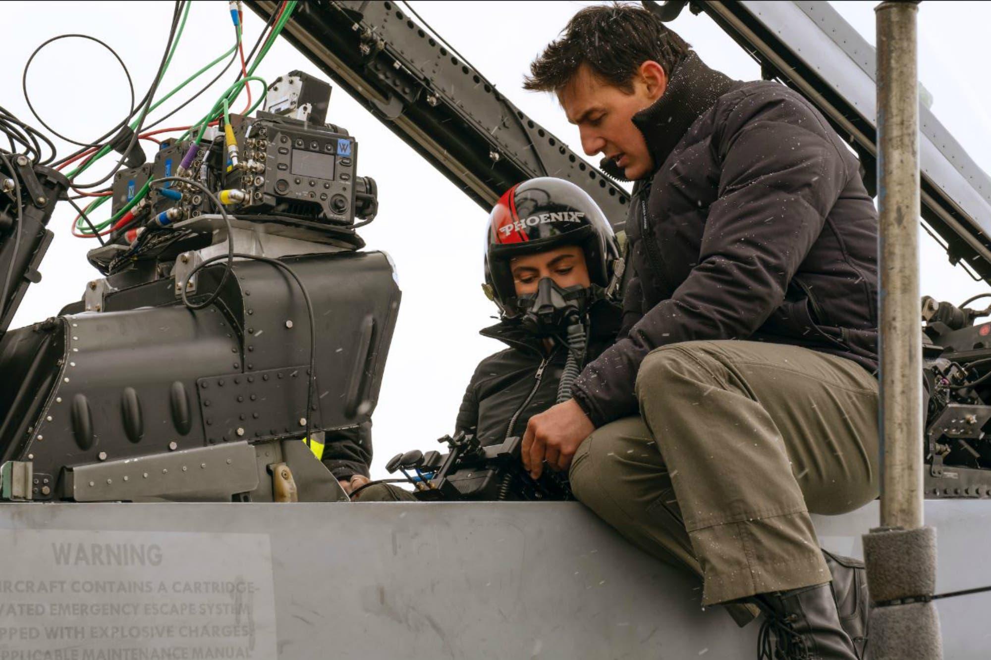 Las nuevas imágenes de Top Gun: Maverick y el rol especial que tuvo Tom Cruise en el rodaje