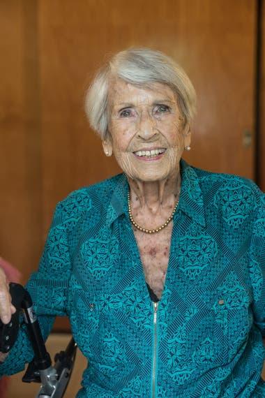 Sabine Blaschkowsky tiene 95 años y llegó a la Argentina en 1950.