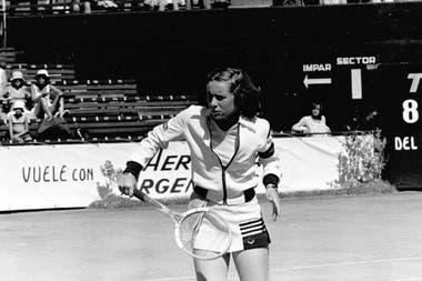 La cordobesa Ivanna Madruga fue número 1 argentina en 1977, 78, 79, 1980, 82, 83 y 84.
