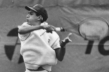 Mariano Zabaleta, en su etapa de junior; fue uno de los mejores productos de la escuela de tenis de Tandil.