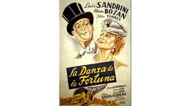 Afiche del film La Danza de la fortuna, de 1944