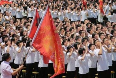 """Para los estudiantes chinos el """"gaokao"""" es como ir al a guerra. (Hengshui, China, 2018)."""