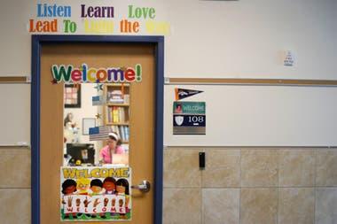 Una escuela de Provo, en el estado Utah, se prepara para la vuelta a clases