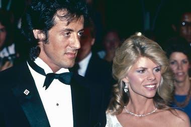 Stallone junto a su primera esposa, la actriz y directora Sasha Czack
