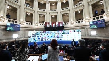 Cristina Kirchner, en el Senado