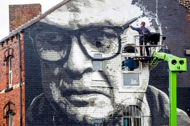 Un mural de Bielsa en Leeds, recién estrenado