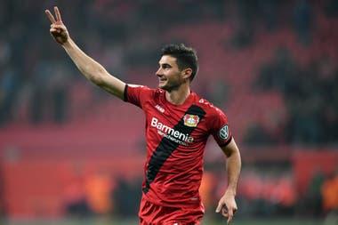 Lucas Alario pasó de River a Bayer Leverkusen en 2017 en un monto cercano a los 24 millones de euros