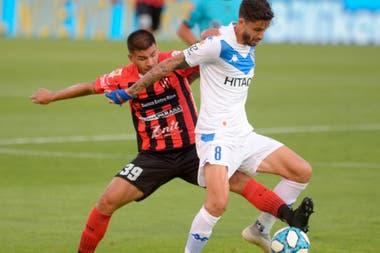 Una escena del partido entre Vélez y Patronato, de la Copa Liga Profesional, que emiten conjuntamente Fox Sports Premium y TNT Sports.