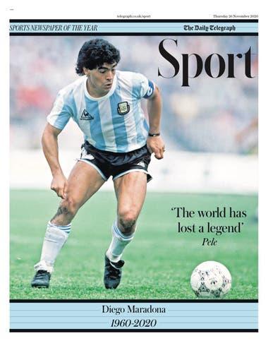 """The Daily Telegraph rescata una foto de Maradona en su Mundial, el de México 86. Y una frase de Pelé, quizás uno de los mayores antagonistas de Diego. """"El mundo ha perdido una leyenda""""."""