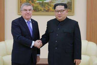 Kim y Bach se reunieron en Pyongyang