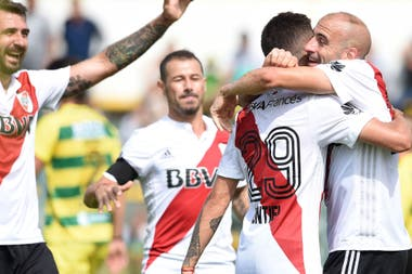 River viene de ganarle 3-1 a Defensa y Justicia en la Superliga