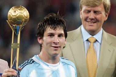 Utrecht, 2005: fue elegido como mejor jugador del Mundial juvenil que ganó la Argentina