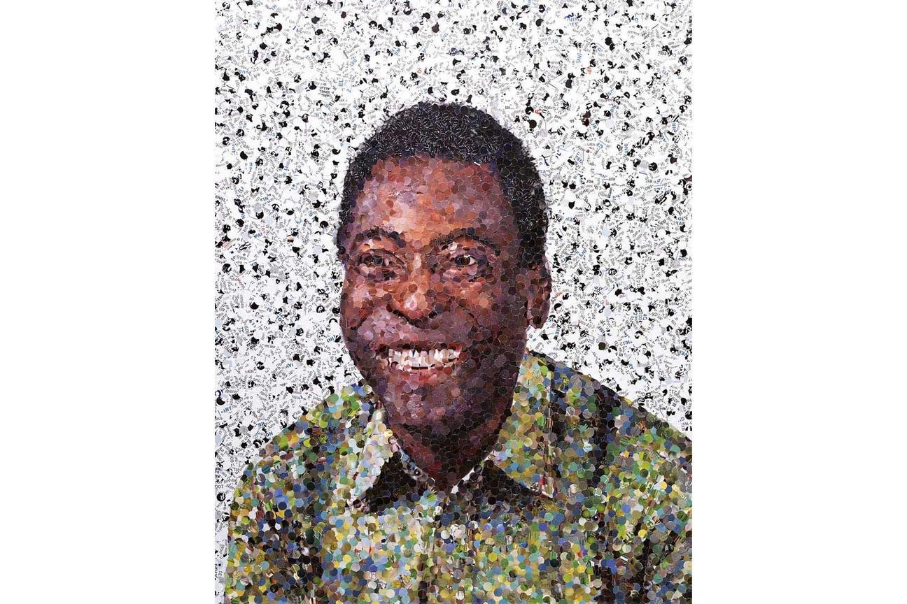 Pelé según el retrato del artista Vik Muniz