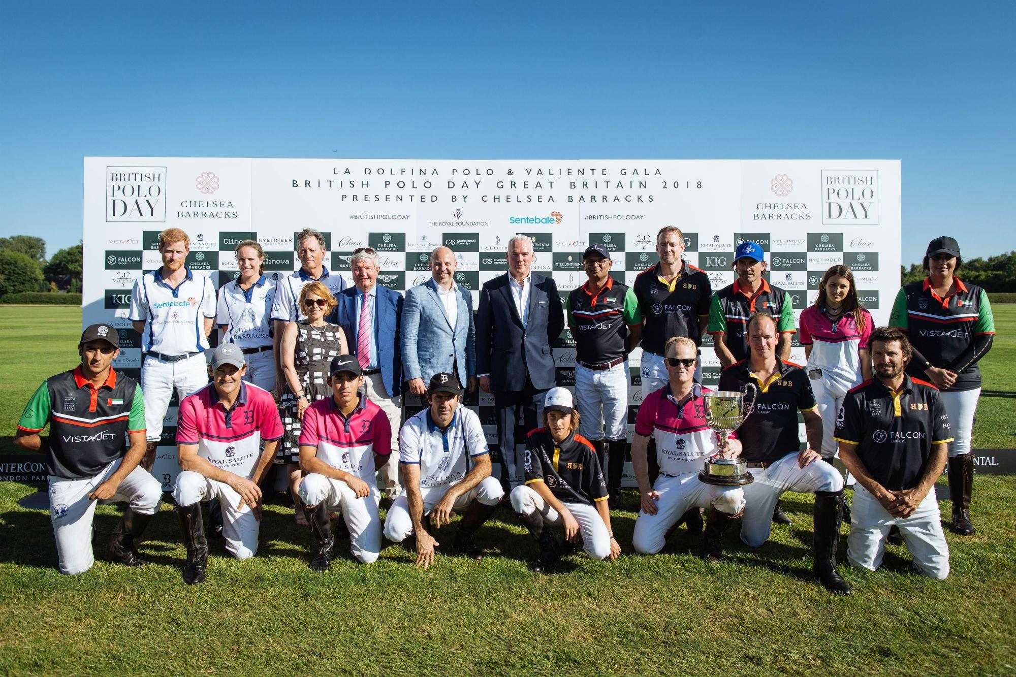 El príncipe Harry se unió a Adolfo Cambiaso en el British Polo Day