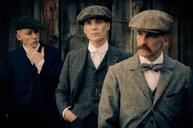 Los hermanos Shelby (Cillian Murphy, Joe Cole y Paul Anderson).