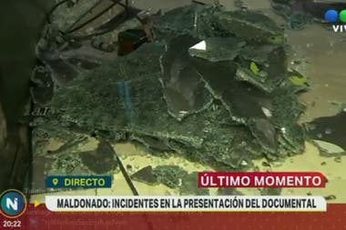 Destrozos e incidentes en la presentación del documental
