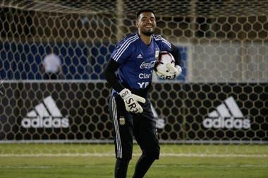 Sergio Romero vuelve a jugar con la Argentina tras más de seis meses